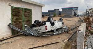 Girne bölgesinde hortum felaketi