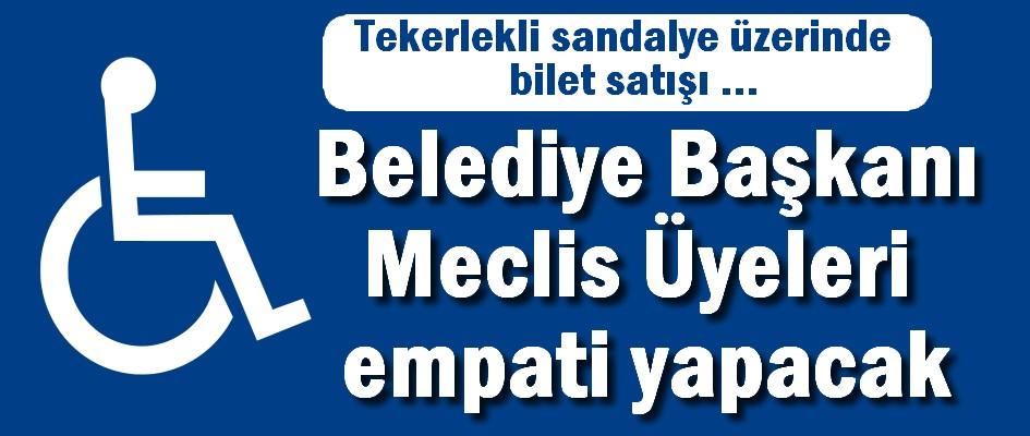 Girne Belediye Başkanı ve Meclis Üyeleri tekerlekli sandalye üzerinde  bilet satışı gerçekleştirecekler.