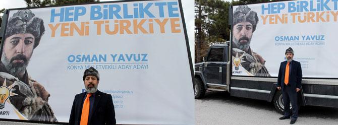 AK Parti aday adayının börklü afişi fenomen oldu!