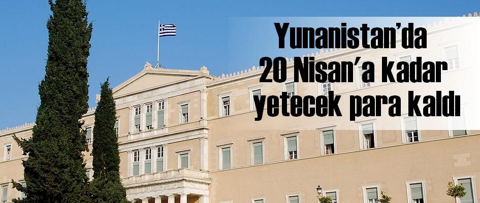 Yunanistan'da 20 Nisan'a kadar yetecek para kaldı'