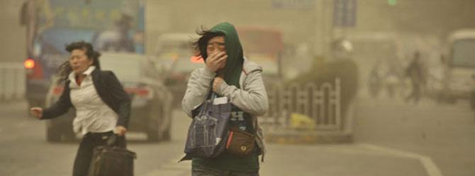 Çinde kum fırtınası uyarısı