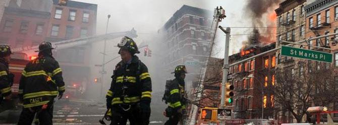 New Yorkta çöken binada 2 ceset bulundu