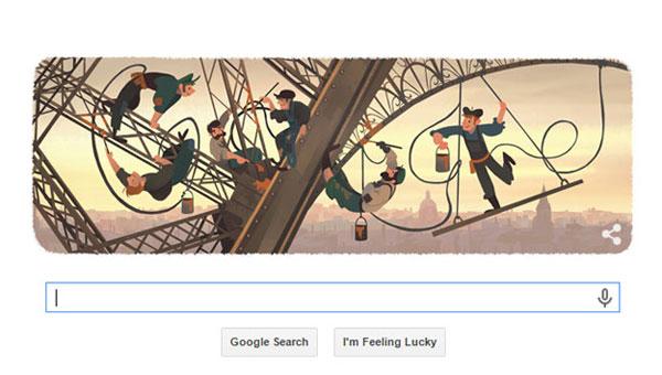 Googledan Eyfel Kulesine özel doodle