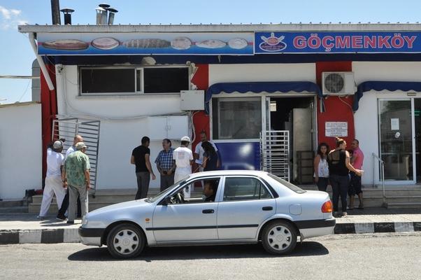 Lefkoşa'da Göçmenköy Şah Fırını'nda çıkan yangın büyümeden söndürüldü