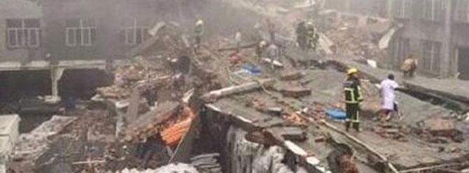 Çinde ayakkabı fabrikası çöktü: 14 kayıp