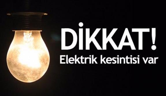 12 bölgede elektrikler kesilecek