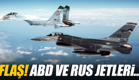 ABD ve Rusya jetleri Suriye yakınlarında