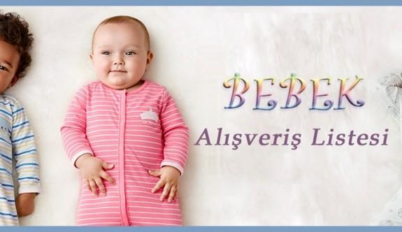 Bebek Alışveriş Listesi