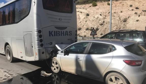Boğaz'daki kaza ucuz atlatıldı