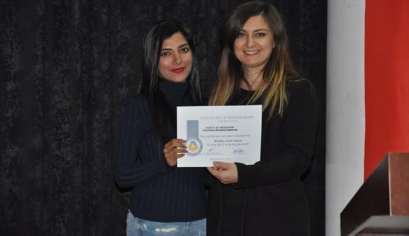 DAÜ Makine Mühendisliği Bölümü başarılı öğrencilerini ödüllendirdi