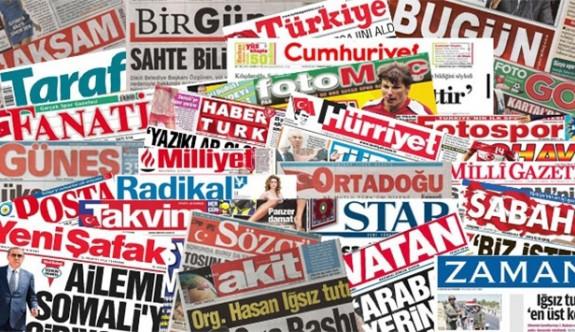 Türkiye'nin Gazete Manşetleri - 14 Ocak 2017 Cumartesi