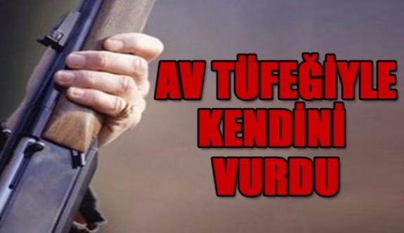 Sadrazamköy'de avcı, kendi kendini vurdu!