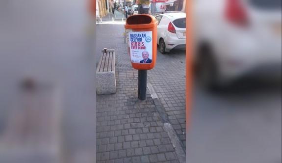 "Çöp bidonunda ""evet"" propagandası"