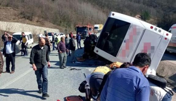 Sendikacıları taşıyan otobüs kaza yaptı: 6 kadın yaşamını yitirdi
