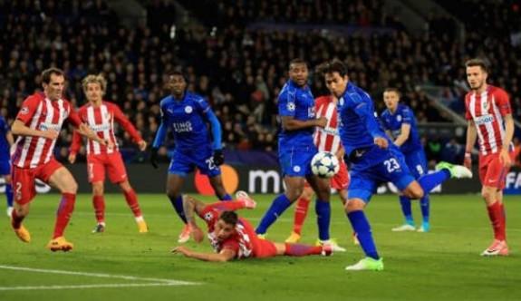Atletico Madrid, Leicester'in peri masalını bitirdi