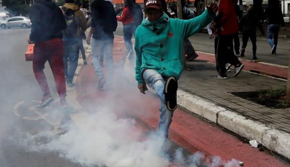 Brezilya yıllar sonra genel grevde