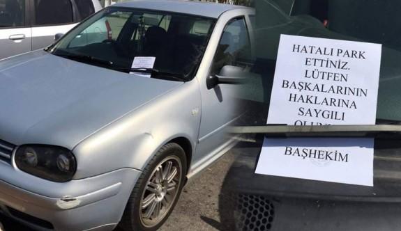 Hatalı parka başhekim uyarısı