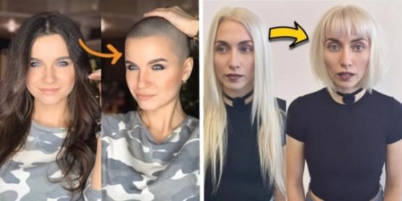 Saçlarını Kısaltmak İsteyen Kadınlara İlham Verecek 17 Öncesi/Sonrası Fotoğrafı