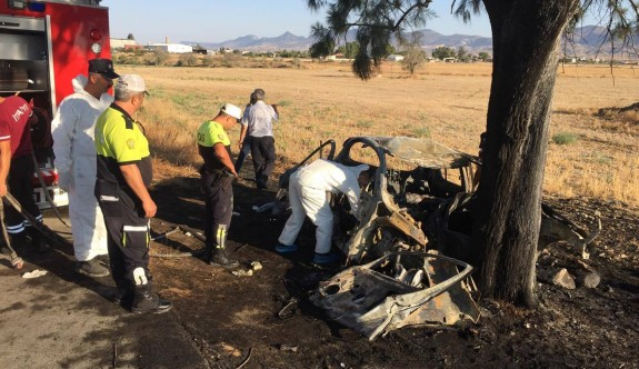 Kazada yanarak ölenin kimliği belli oldu