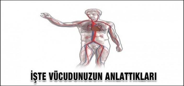 Sağlığınızla ilgili vücudunuzun anlattıkları