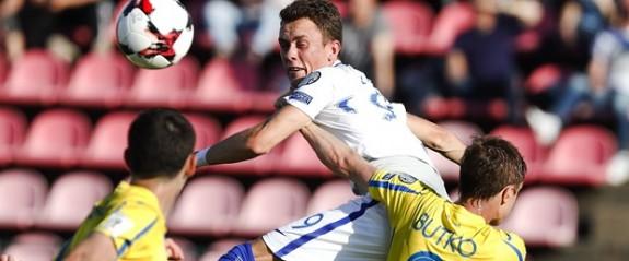 Ukrayna üç puanı iki golle aldı