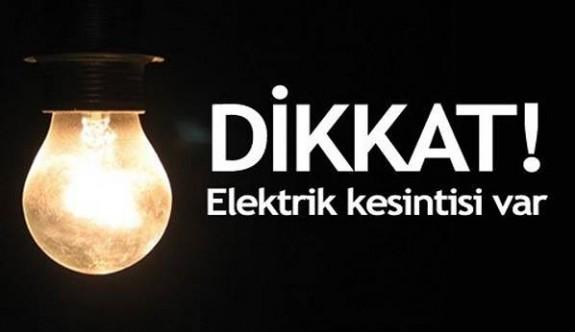 Çamlıköy'de yarın elektrik kesintisi olacak
