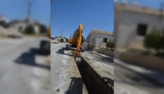 Hamitköy'de kanalizasyon çalışmaları başladı