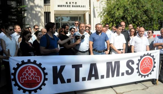 KTAMS, Merkez Bankasında uyarı grevi yaptı