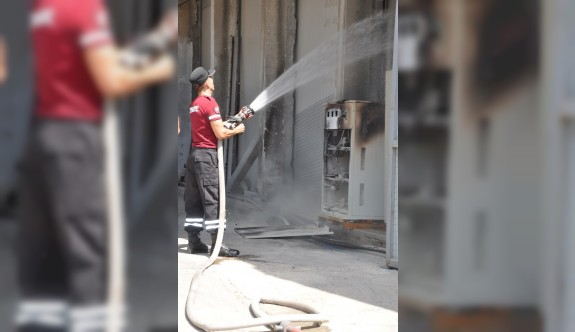 Soğuk Hava Deposu'nda yangın paniği