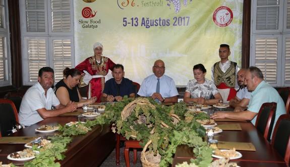 Üzüm festivali 5-13 Ağustos tarihleri arasında