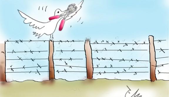 Ara bölgede iki toplumlu karikatür sergisi