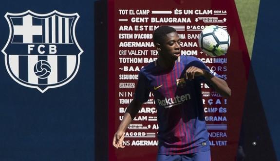 Barcelona Dembele'yi tanıttı
