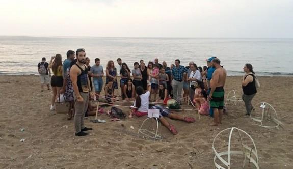 Caretta carettalar denize bırakıldı