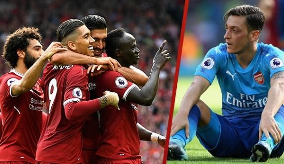 Liverpool, Mesutlu Arsenal'ı dağıttı