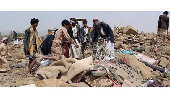 Yemen'de otele hava saldırısı: 35 ölü
