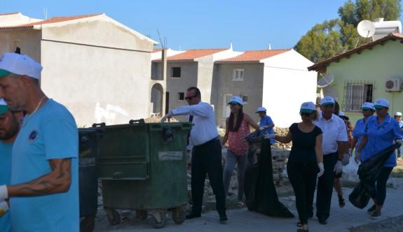 Lefke'de çevre temizliği yapıldı
