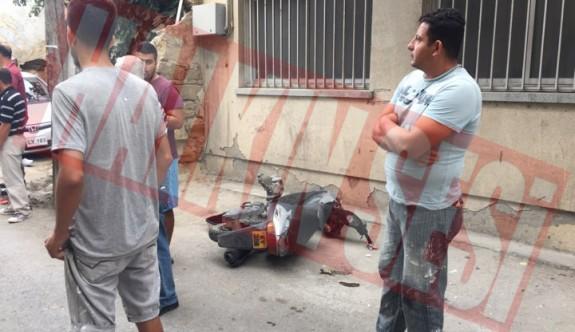 Paketçi motosiklet kurbanı oldu