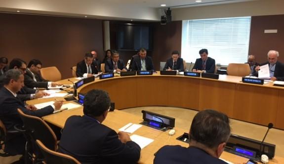 Tahsin Ertuğruloğlu, BM Genel Kurulunda EİT'e üye ülkelere hitap etti.