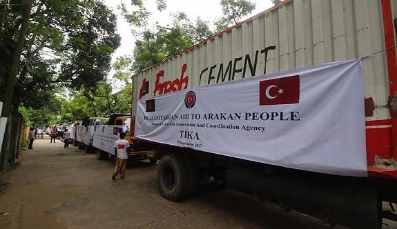 Türkiye'nin Arakanlı Müslümanlara yardımları sürüyor