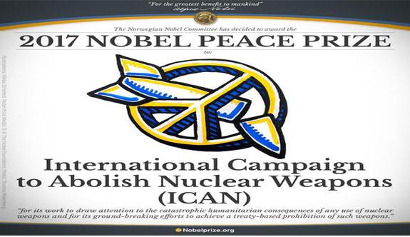 2017 Nobel Barış Ödülü ICAN'ın oldu