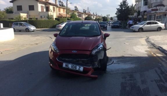 Dikkatsiz sürüş kaza  getirdi