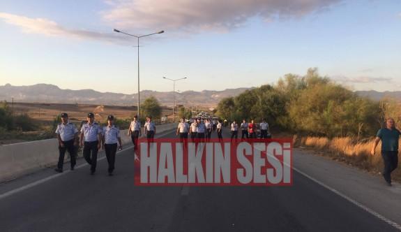 Ercan çıkış yolu çift yönlü trafiğe açıldı
