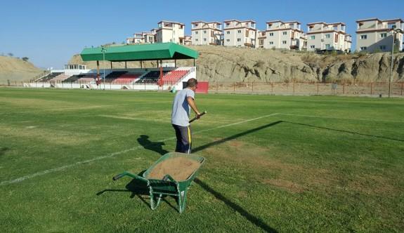 Esat Erdoğmuş Stadı'na ara ekim yapıldı