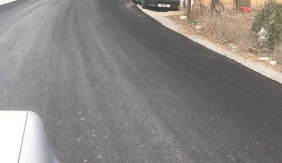 Evlerin bittiği yerde asfalt bitirildi
