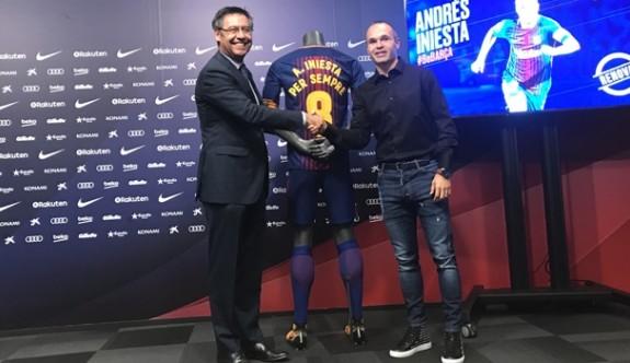 Iniesta'ya 'ömürlük' sözleşme!