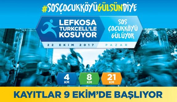 """Lefkoşa Turkcell'le Koşuyor Maratonu"""" kayıtları 9 Ekim'de başlıyor."""