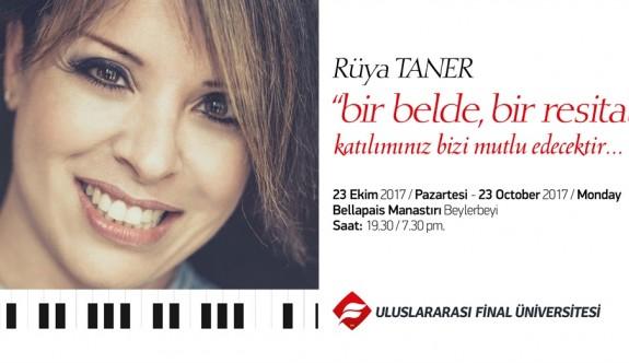 Rüya Taner, Bellapais Manastırı'nda piyano resitali verecek