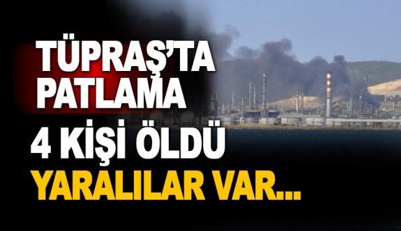 Tüpraş İzmir Rafinerisi'nde patlama: 4 ölü