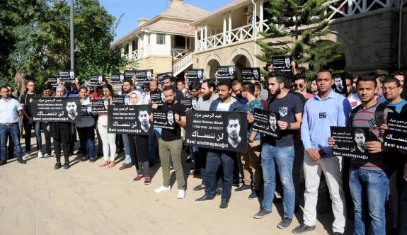 """Üniversitelilerden """"Başka Abdul Rahmanlar ölmesin"""" eylemi"""