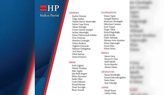 Halkın Partisi de aday listesini belirledi